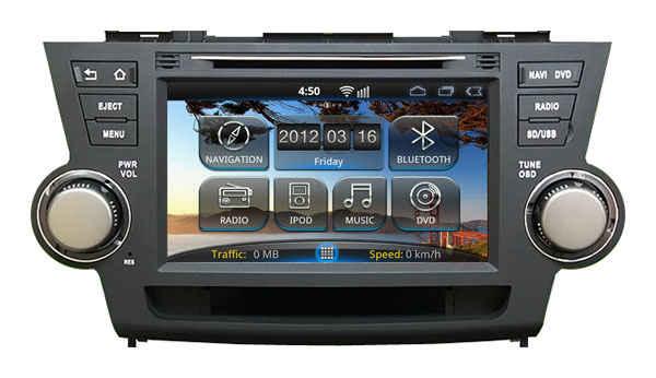 Штатная магнитола Toyota Highlander 2008-2013 Road Rover