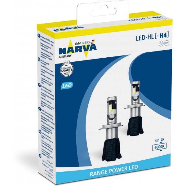 Narva 18004 H4 6000K X2 15,8W P43t-38 Комплект диодных ламп Narva 18004 H4 6000K X2 15,8W P43t-38 (2шт.)