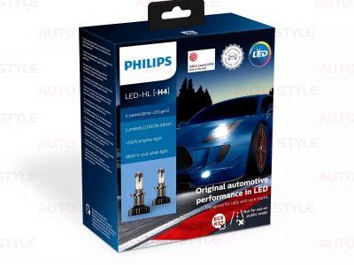 Комплект диодных ламп PHILIPS 11342XUWX2 H4 Ultion +250% 5800K