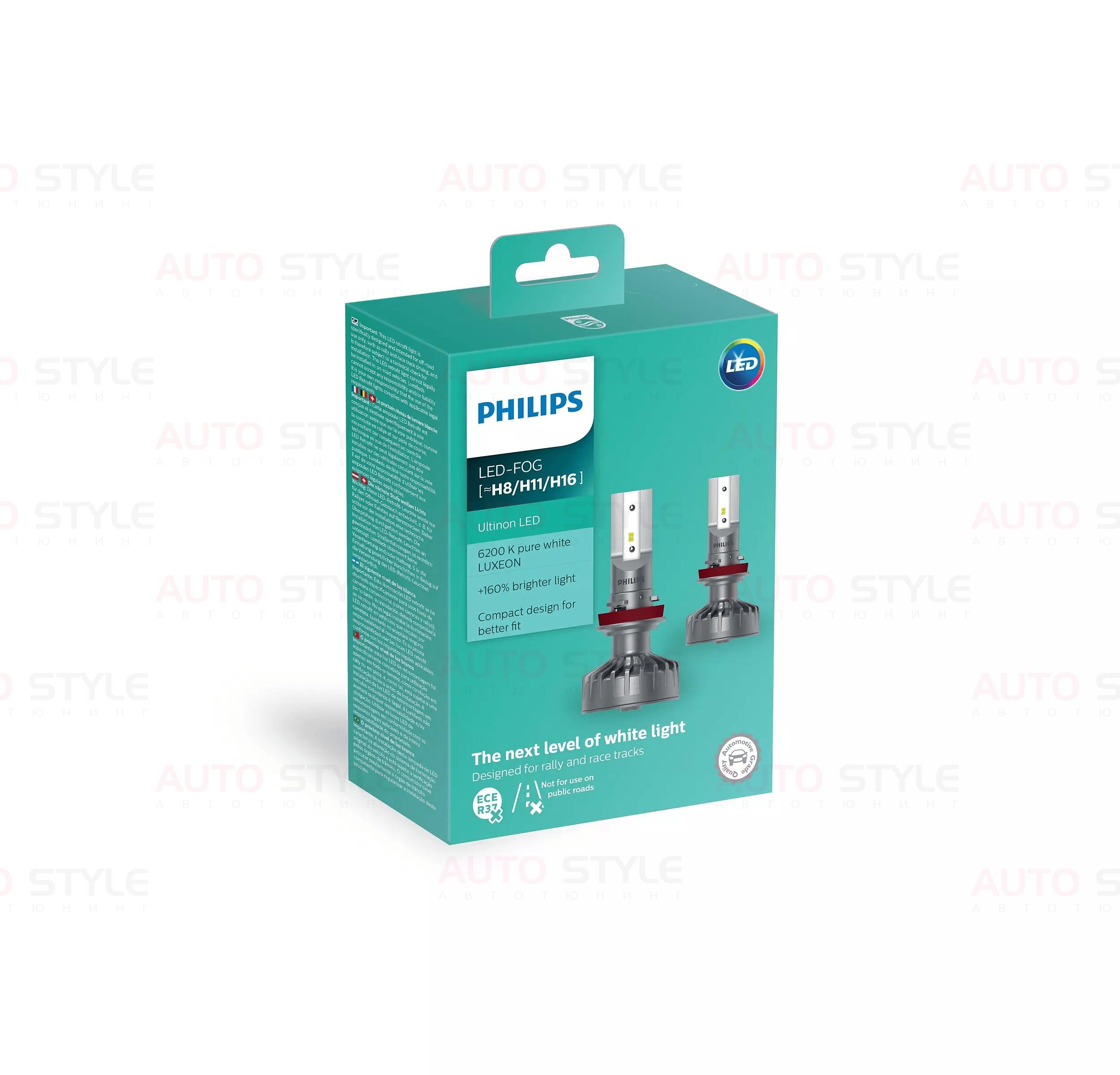 LED лампа Philips Ultion +160% H8/H11/H16 11366ULWX2 (2 шт.) LED лампы Philips Ultion +160% H8/H11/H16 11366ULWX2 (2 шт.)