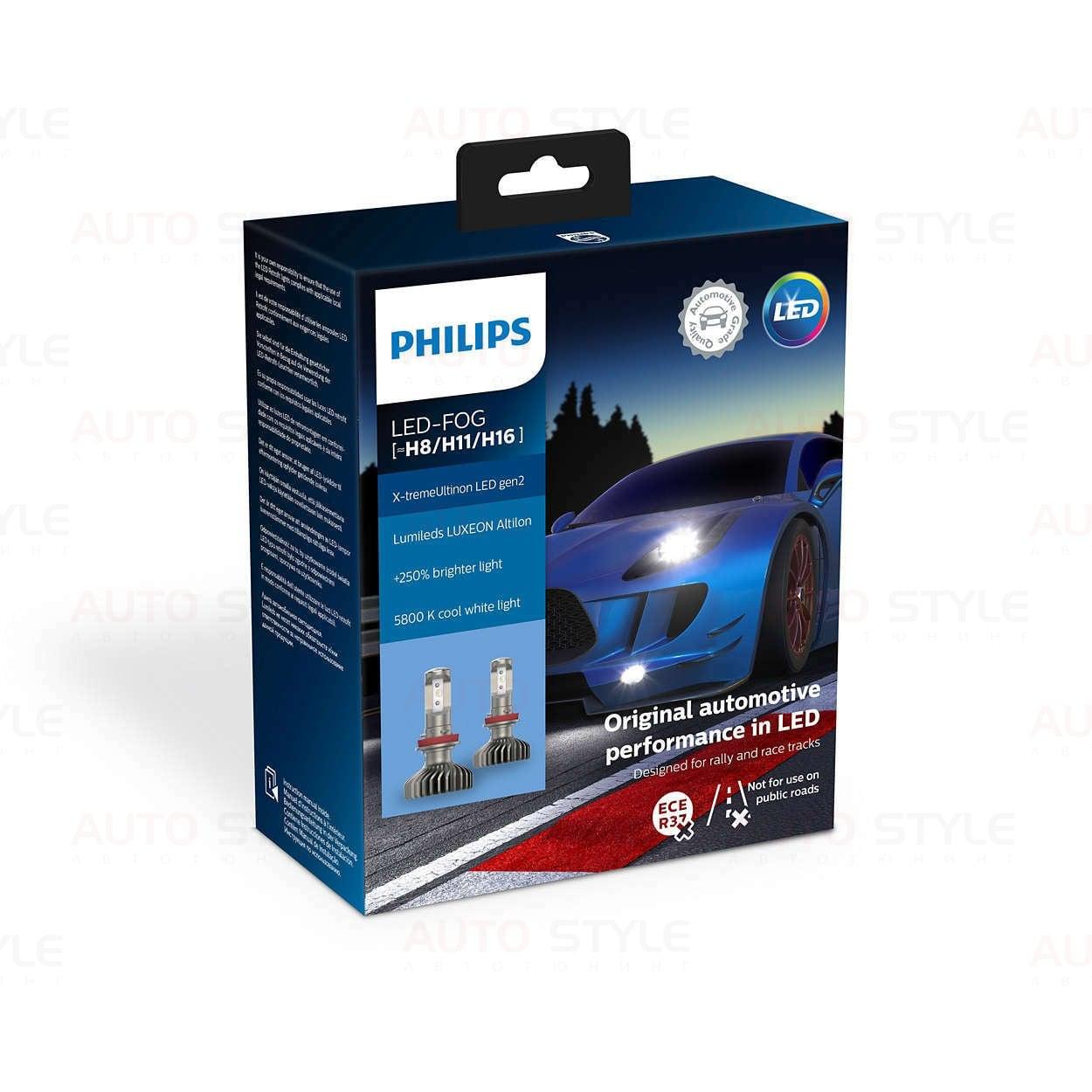 LED лампы Philips X-treme Ultinon +250% H8/H11/H16 11366XUWX2 (2 шт.) LED лампы Philips X-treme Ultinon +250% H8/H11/H16 11366XUWX2 (2 шт.)