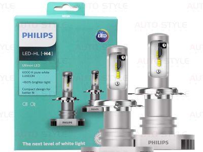 Комплект диодных ламп PHILIPS 11342ULWX2 H4 Ultion +160% 6200K