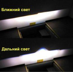 Как светят светодиодные BI-LED линзы AMS i5 3.0′  Автомобильные LED линзы AMS Bi-LED i5 Matrix 3″